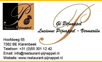 Pijnappel restaurant